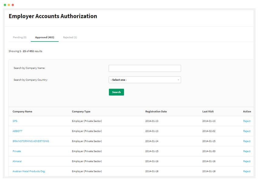 Employer Accounts Authorization