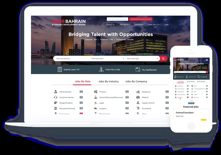 EDB Bahrain job board portal